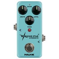 overdrive vintage achat en gros de-NUX Morning Star NOD-3 Blues Overdrive Pédale d'effet guitare électrique True Buffer Bypass Mini Core Effects Classic Blues Breaker
