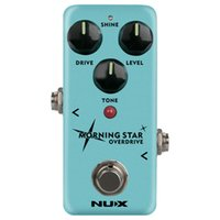 звездные гитары оптовых-NUX Morning Star NOD-3 Blues Overdrive Педаль эффектов электрогитары True Buffer Bypass Мини-эффекты ядра Классический выключатель блюза