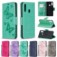 Wholesale wallets phone slot resale online - Imprint butterfly Wallet Leather Cases For Samsung Galaxy Note S10 Plus A20S A10S card slot Phone Case