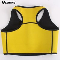плюс размер женщины спортивная одежда оптовых-VEAMORS Women Plus Size Running Vest Lose Weight Sport Clothing Fat Burning Neoprene Sportswear Ladies Slimming Fitness Vest Top