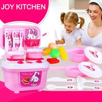 çocuklar pişirme oyun seti oyuncaklar toptan satış-Çocuk Rol Oynamak Pretend Simülasyon Mutfak Seti Çocuklar Oyuncak Oyna Pretend Pişirme Tencere Gıda Oyuncaklar Eşyaları Tencere Tavalar T6 #