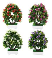 ingrosso bonsai fiore vaso-45 # fiori artificiali finti vaso verde giglio bonsai fiore di simulazione miniascape ornamenti per la decorazione domestica hotel garden decor