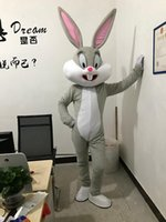 ingrosso coniglietto di pasqua adulti-La mascotte professionale del coniglietto di Pasqua di vendita calda 2018 costumes la mascotte del coniglietto e degli insetti Bunny Adult da vendere