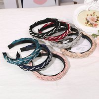 Wholesale braids and twists for sale - Group buy 2 Cm Wide Temperament Headband Pearl Twist Braid Unicorn Hair Band Hairdress Hair Style Girl Simple And Easy OUzKc