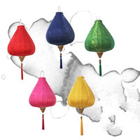artesanías chinas de arte tradicional al por mayor-Las linternas de seda de raso para Creative chino tradicional Diamond Linterna Artes y artes Multi regalo Colores de alta calidad 40bt4 C
