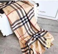 lenço de algodão preto para mulher venda por atacado-Tamanho 180x70 cm Moda Feminina Cachecol de Algodão Quente Cachecóis Xales Xadrez Clássico Cheque Cachecóis Ladys Wraps Xales Quentes Marrom preto