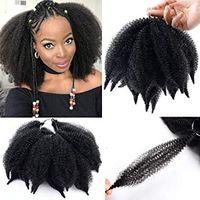 afro kinky curl saç uzantıları toptan satış-Ombre Marley Örgüler Saç Afro Kinky Kıvırcık Marley Kıvırmak Büküm Örgü Saç Uzantıları Kanekalon Sentetik Büküm Tığ Saç