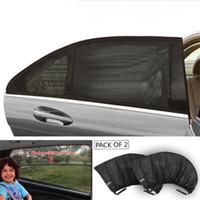 cubiertas de malla de ventana al por mayor-Car-styling Car Sun Shade Cubierta de la ventana Sombrilla Cortina Protección UV Visera Visor de malla Polvo Ventana de coche de malla Venta caliente