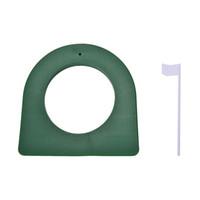 yeşil plastik bardaklar toptan satış-GOLF In / Outdoor Yeşil Plastik Düzenleme Koyarak Fincan Delik Atıcı Uygulama Trainer + Bayrak Koyarak Doğruluk Geliştirin
