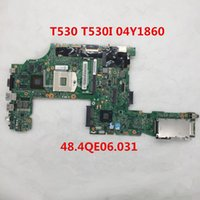 Wholesale intel hm77 motherboard for sale - High quality For t530 t530i Laptop motherboard Y1860 QE06 hm77 DDR3 full Tested