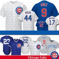 Wholesale kyle schwarber jerseys resale online - 9 Javier Baez Chicago Kris Bryant Cubs Jersey Anthony Rizzo Ryne Sandberg Kyle Schwarber Baseball Jerseys