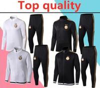 Wholesale stars training for sale - Group buy Top quality two star Algeria adult soccer jacket training suit Algeria MAHREZ BELAILI sports football tracksuit