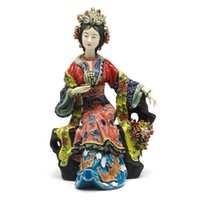 Wholesale porcelain angels for sale - Group buy Chinese Ceramic Dolls Fine Art Female Statue Sculpture Art Collections Angels Porcelain Collectible Home Decor Crafts