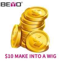 заказать парики оптовых-Beyo $ 10 Сделай в парике Комплекты для заказа париков с закрытием / Фронтальная доплата $ 10 За изготовление индивидуального парика Маленький большой средний размер
