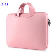 Wholesale 13 inch tablet sleeves resale online - Laptop Handbags Sleeve Case Sponge Breathing Material Computer Laptops Bag Solid Notebook Tablet Bags inch Size