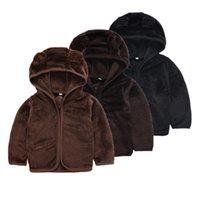 ingrosso ragazzi con cappuccio con zip-Toddler Kids Baby Boy Abbigliamento Outfit Soft Felpa con cappuccio Felpa Casual Zip-up Hooded Warm Jacket Winter Boys 2-6T