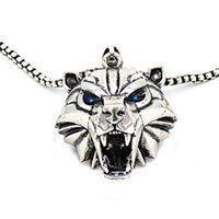 Wholesale witcher medallion for sale - Group buy Witcher Books Polar Bear Cosplay Medallion Bear School Necklace Witcher Hunter Head Medallion Grizzly Pendant Series Irpqd