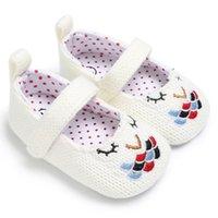 sapatos de malha de bebê venda por atacado-2 cores recém-chegados fundo Macio anti-skid bebê Primeiros Caminhantes De Malha Bordado Florista bebê Primeiros Caminhantes sapatos
