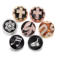 Wholesale snap buttons bracelets for sale - Group buy 6pcs New Snap Jewelry Vitnage Charms Exotic Flower Cross mm Snap Buttons Fit DIY mm Bracelet Necklace Jewelry
