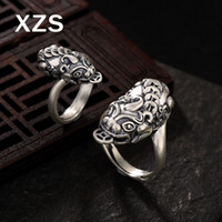 ingrosso porcellana autentica gioielli-100% autentico 990 sterling silver anelli animali mitici Cina stile vintage fatto a mano per le donne gioielli regalo di lusso JZC-8035