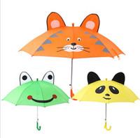 çocuklar karikatür şemsiye toptan satış-Yaratıcı karikatür çocuklar şemsiye polyester karikatür hayvan kulak çocuk oğlan kız sevimli şemsiye için çocuk şemsiye toptan