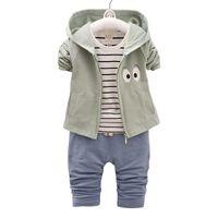ingrosso vestito da bambino-buona qualità Bambini Boy Clothing Sets Neonato Vestiti del ragazzo Sport Suit 2019 Nuovo arrivo Kids Boy Outfit Suit Bebe Tuta