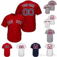 Wholesale steve red online - Custom Men Women Youth Boston Red Ted Williams Jackie Bradley Jr Dustin Pedroia Steve Pearce Tom Brady Mookie Betts Sox Baseball