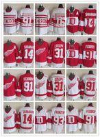 nhl, nakliye formatı yapıyor toptan satış-Detroit Red Wings 91 Sergei Fedorov Kırmızı Beyaz Erkekler NHL Formalar 31 Curtis Joseph CCM Vintage 14 Brendan Shanahan Buz Hokeyi Forması