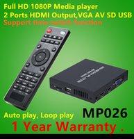 videos mp4 hd al por mayor-Reproductor de medios Full HD de 1080P con salida HDMI dual Compatible con reproductor multimedia MKV MP4 Reproducción automática de video Reproductor