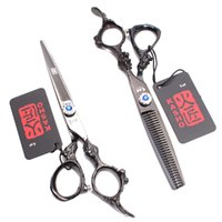Wholesale hairdresser hair scissors for sale - Group buy 1Pair inch cm JP C Hairdresser s Set Thinning Scissors Cutting Shears Dragon Handle Professional Hair Scissors