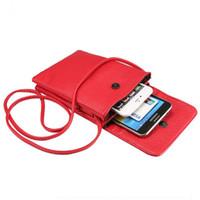 caja del teléfono correa de hombro al por mayor-Mini estuche monedero de la cartera del teléfono celular de la bolsa de Crossbody con la bolsa de la correa para el teléfono 7plus samsung S8 S8plus bolso de 6.3 pulgadas