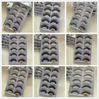precio de las pestañas 3d al por mayor-Precio de fábrica 10 estilos 5 pares 3D pestañas entrecruzadas gruesas pestañas falsas 5 pares de pestañas de visón 3D Pestañas falsas Maquillaje Extensión de pestañas