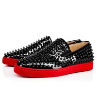 ingrosso scarpe casual e confortevoli da uomo-Red Bottom Mocassini Shoes Roller-Boat Men's Flat Walking Flats, Unisex Brand Flats, Comodo Casual Walking Shoes 35-46
