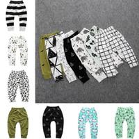 bebekler tozlukları toptan satış-Bebek Tayt çocuklar giysi tasarımcısı erkek Toddler Bebek kız pantolon pantolon Unisex harem pantolon giyim erkek panda tayt Tayt 2479