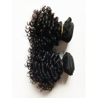 venda de fábrica cabelo humano venda por atacado-Extensões de Cabelo Virgem brasileiro 8A grau venda quente Não Transformados indiano remy Tecer Cabelo Humano 3 Pacotes Crespo Encaracolado Barato preço de Fábrica