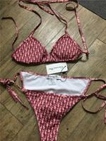 biquínis sexy de duas peças venda por atacado-Chegada nova Designer de Biquíni Mulheres Swimwear DR 2 cores Swimsuit Bandage Sexy Maiôs Sexy pad Swimsuits Two-piece