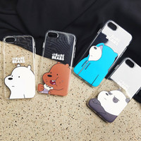 Wholesale toys for iphone resale online - 3D cute cartoon toys bears brothers phone Case For iphone X XR XS MAS s Plus cute panda soft Transparent case back cover