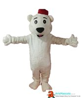 Wholesale polar bear birthday for sale - Clearance Adult Size Santa Polar Bear Mascot Costume Christmas Mascots for Birthday Party Custom Mascots Deguisement Mascotte Arismascots