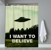 Wholesale x files for sale - Group buy UFO I want to believe X file Durable Fabric Mildew Bathroom Accessories Creative with Hooks X180CM