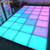 Wholesale stage lighting led dance floor resale online - 40pcs LED Light Up Floor SD Control DMX Interactive Dance Floor Stage Lighting Equipment Dance Floor for Wedding Party Events