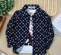 patrones de ropa suelta al por mayor-2019 Nueva primavera y estilo del otoño moda niños Dot speckle patrón camiseta Cardigan estudiantes chico ropa suelta abrigo