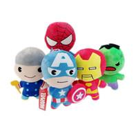 лучшие пакеты игрушек оптовых-Куклы Мстители Marvel Фаршированные Приходят С Коробкой Упаковка 10 СМ / 20 СМ Высокое Качество Куклы Мстители Плюшевые Игрушки Лучшие Подарки Для Детей Игрушки