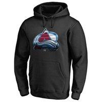 männer hoodies niedrige preise großhandel-Herren Colorado Avalanche Hockey Hoodies Branded Schwarz Asche Rot Grau Sport Hoodies Pullover Langarm Fans Tops Tragen Sie preisgünstige gedruckte Logos