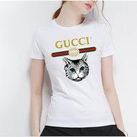 collants demi femmes achat en gros de-2019 nouveau coton T-shirt à manches courtes pour femmes vêtements d'été blanc jeunesse mince slim ajustement ajusté top T-shirt femme à manches courtes