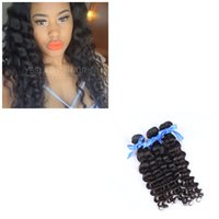 derin kıvrık saç örgüsü toptan satış-3 Paketler Ham Brezilyalı Virgin Saç Derin Kıvırcık İnsan Saç Dokuma Paketler İşlenmemiş Brezilyalı Saç Paketler Doğal Siyah Renk