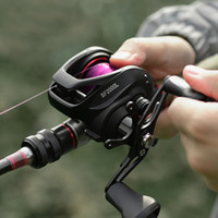 linker bass-körper groihandel-Baitcastingrolle 7.2: 1 12 + 1BB Bass Fishing Reel 8KG Max Drag Left Right Hand Reel Verstärkte Nylon Körper Weiß Bass Fishing Rad