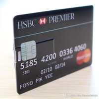 cartão de memória de caneta venda por atacado-100% Real Capacidade Cartão de Crédito 2.0 USB Flash Drive Memory Stick 16 GB Super Pen Drive
