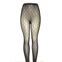 sexy schwarze damenstrümpfe großhandel-Luxus Frauen Strümpfe Marke Designer Schwarze Strumpfhosen Lady Sexy Strümpfe Qualität Aushöhlen Socken Mit G Paket Box