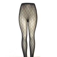 meias sexy damas pretas venda por atacado-Mulheres de luxo Meias Designer de Marca Meias Pretas Senhora Sexy Meias de Qualidade Oco Out Meias Com Caixa de Pacote G