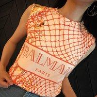 ingrosso camicie in stile top-BAlMAIN 2019 Designer di abbigliamento all'ingrosso T-Shirt da donna in stile inglese ROSA TOP traspirante Tees Abbigliamento da lavoro casual Parigi